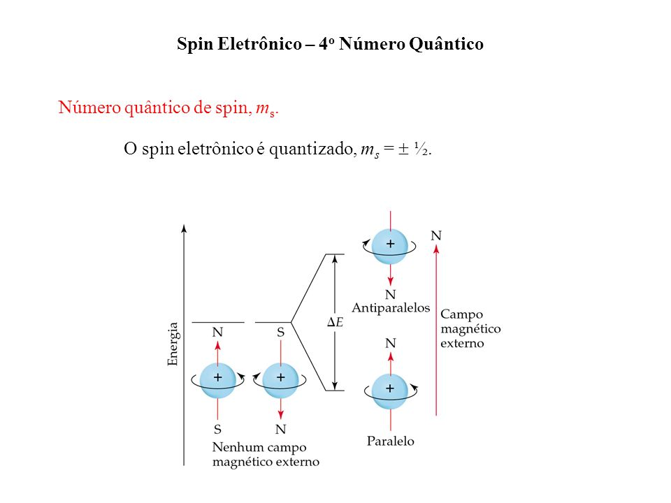 Spin Eletrônico – 4o Número Quântico