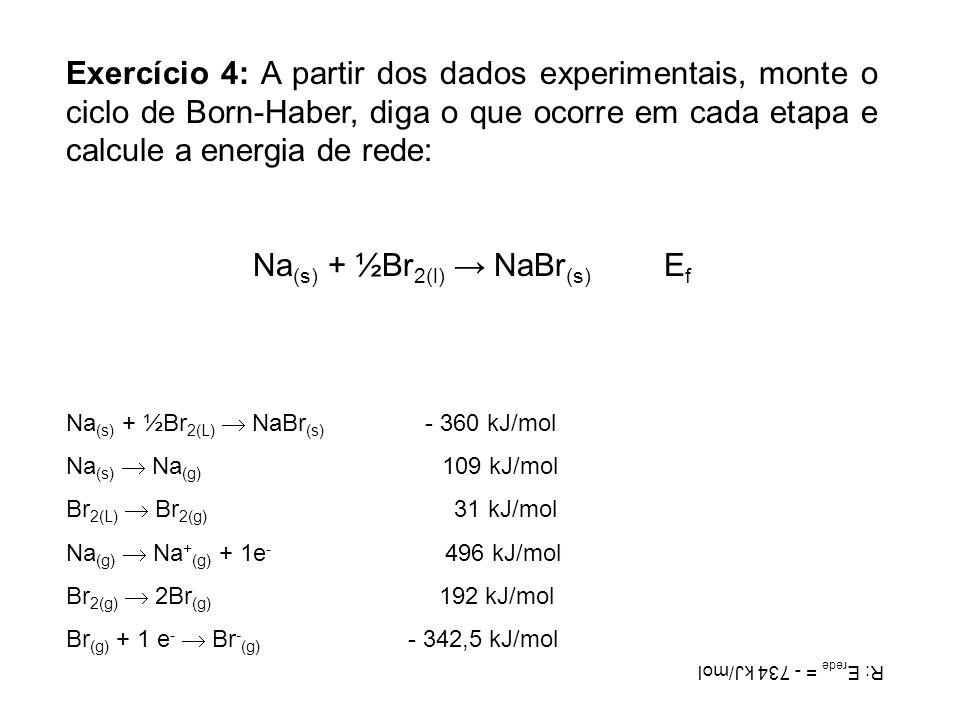 Na(s) + ½Br2(l) → NaBr(s) Ef