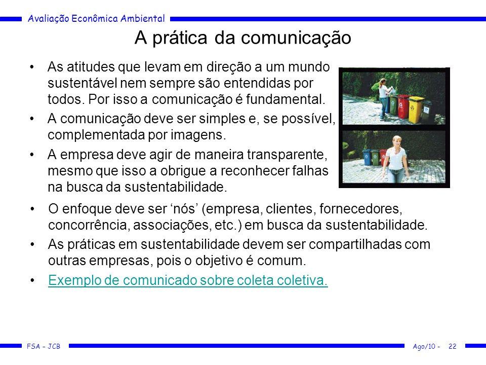 A prática da comunicação