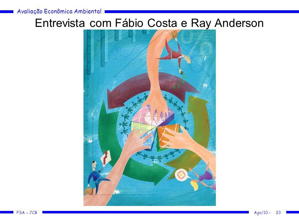 Entrevista com Fábio Costa e Ray Anderson