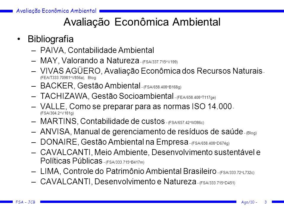 Avaliação Econômica Ambiental