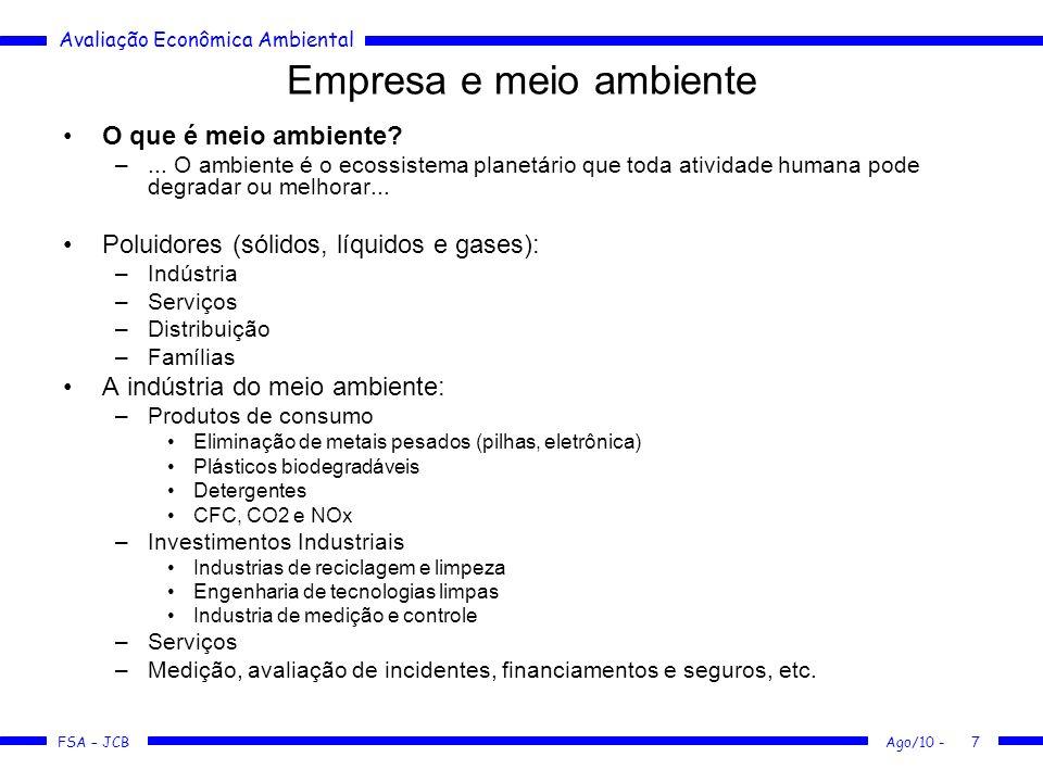 Empresa e meio ambiente