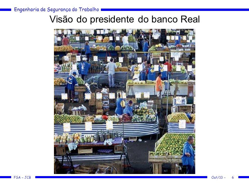 Visão do presidente do banco Real