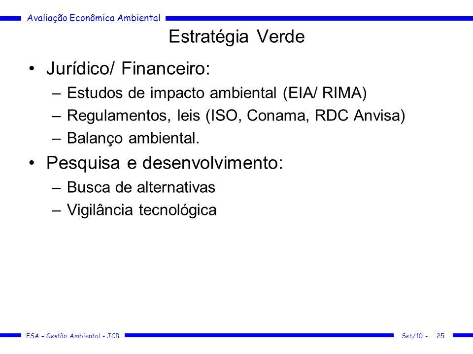 Jurídico/ Financeiro:
