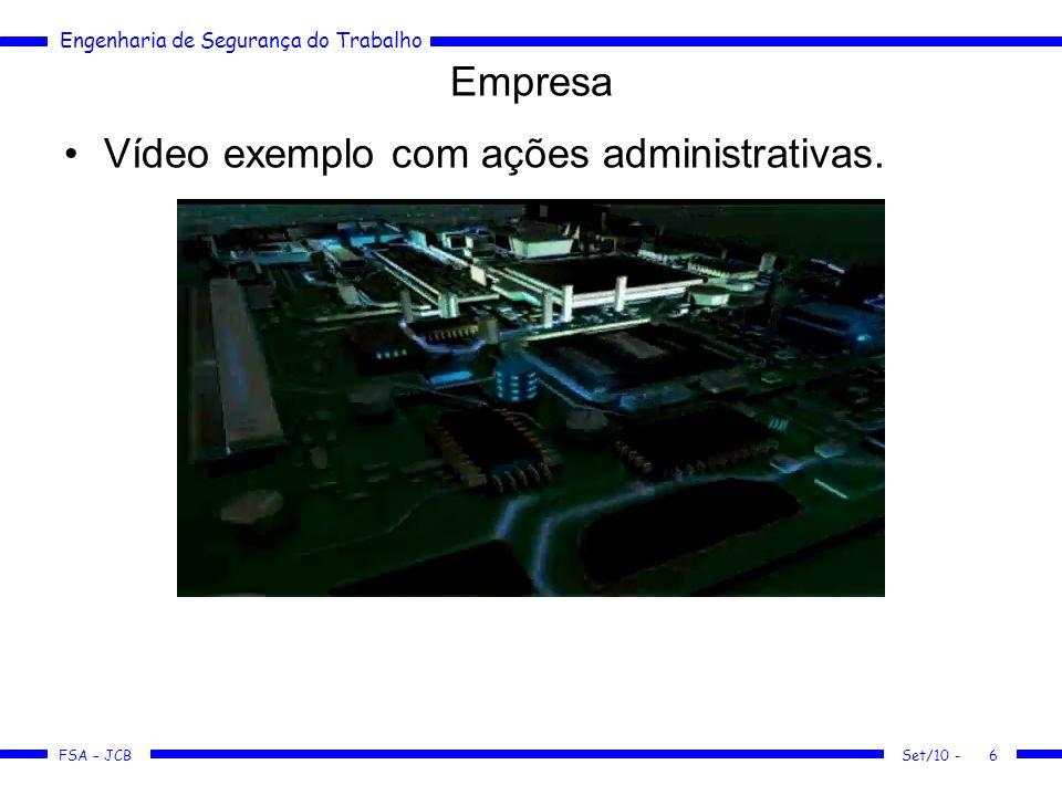 Vídeo exemplo com ações administrativas.
