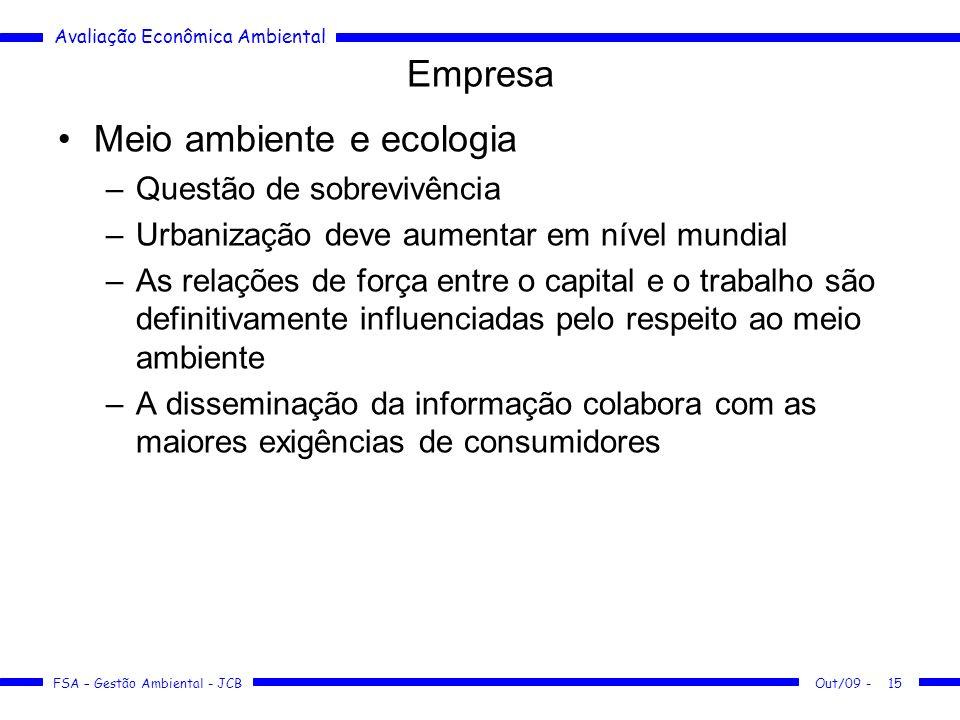 Meio ambiente e ecologia