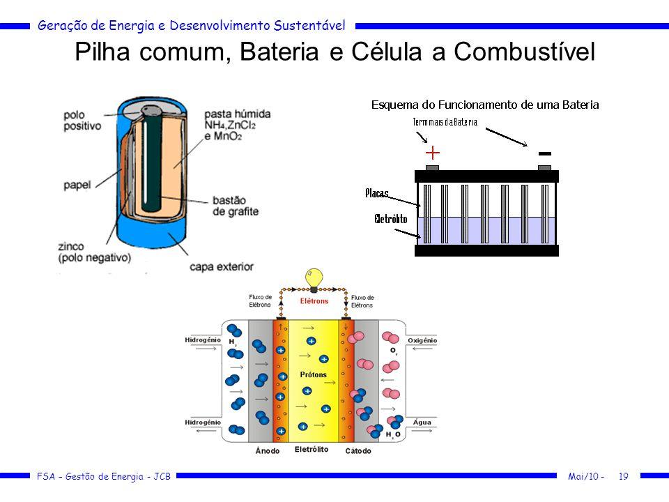 Pilha comum, Bateria e Célula a Combustível