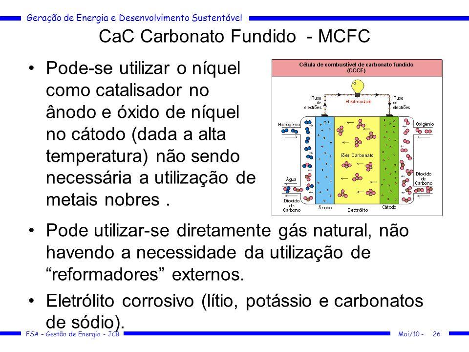 CaC Carbonato Fundido - MCFC