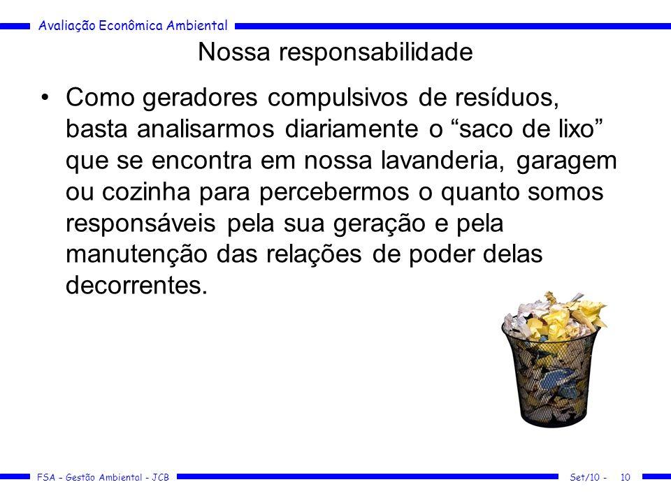 Nossa responsabilidade