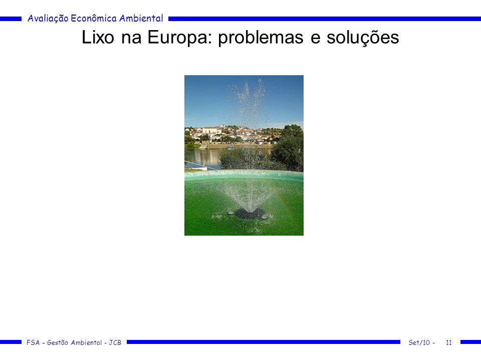 Lixo na Europa: problemas e soluções