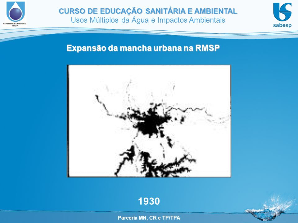 Expansão da mancha urbana na RMSP