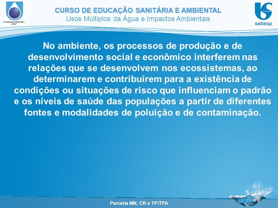 No ambiente, os processos de produção e de