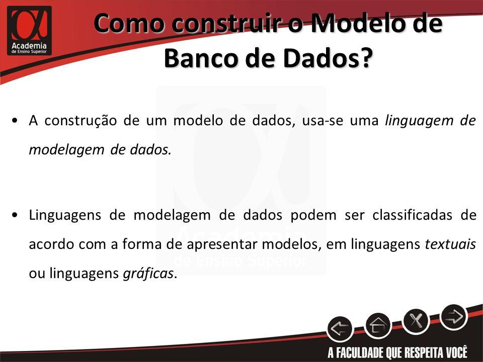 Como construir o Modelo de Banco de Dados
