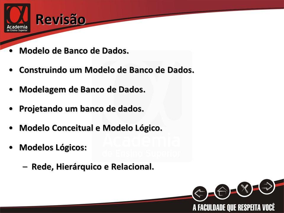 Revisão Modelo de Banco de Dados.
