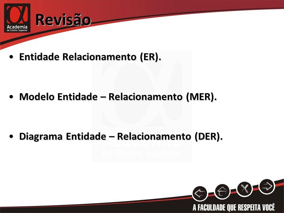 Revisão Entidade Relacionamento (ER).