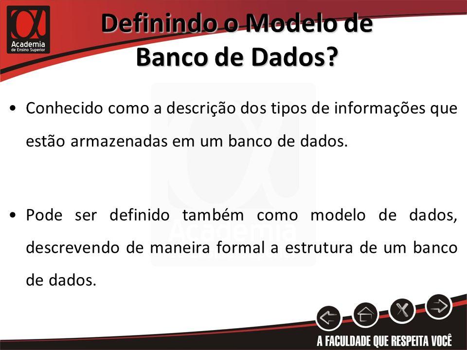 Definindo o Modelo de Banco de Dados