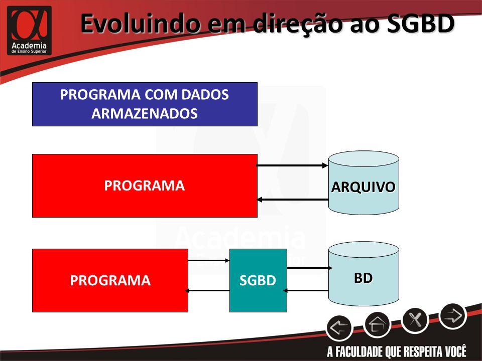 Evoluindo em direção ao SGBD