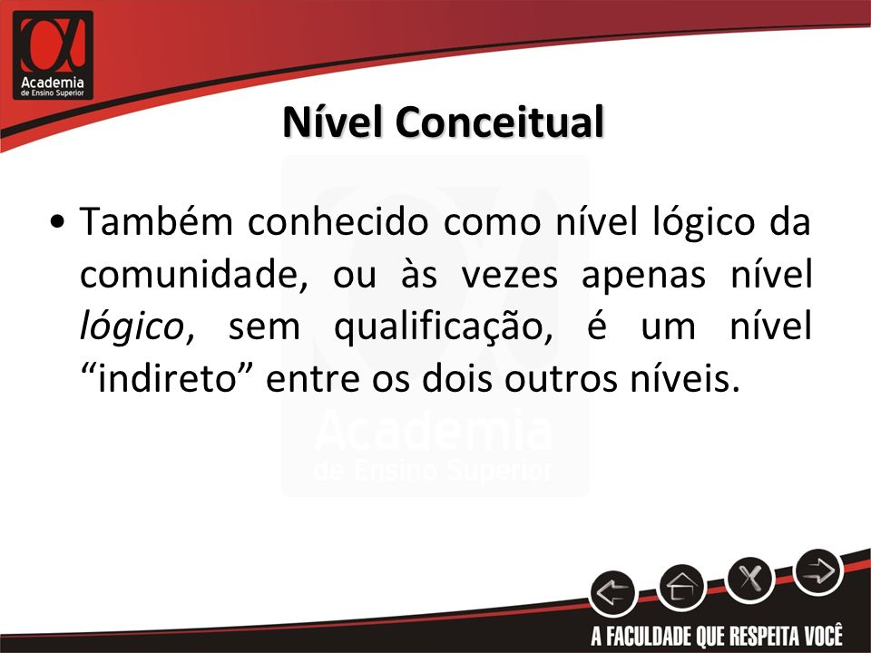 Nível Conceitual