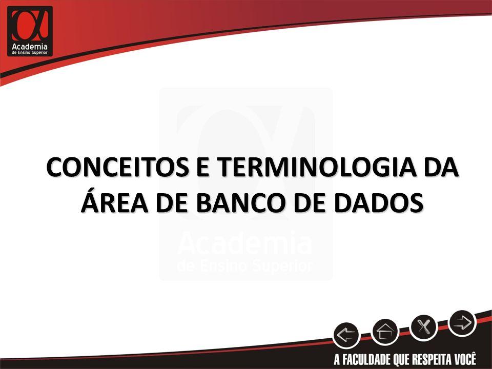 CONCEITOS E TERMINOLOGIA DA ÁREA DE BANCO DE DADOS