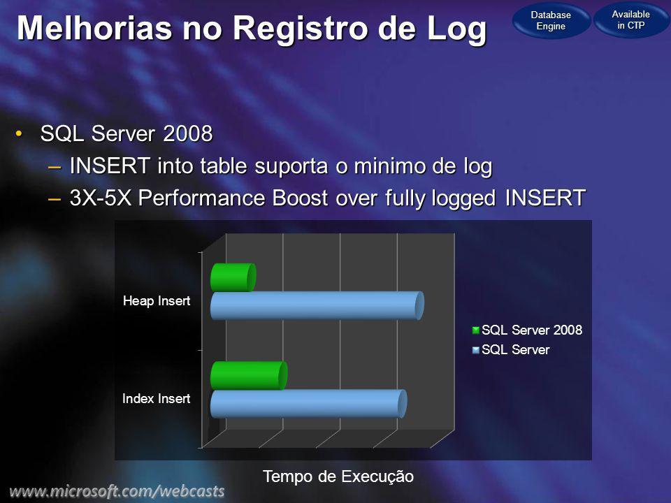 Melhorias no Registro de Log