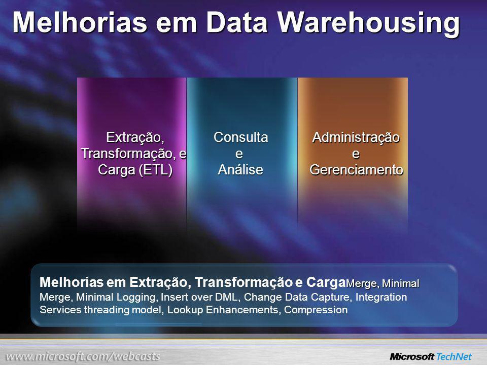 Melhorias em Data Warehousing
