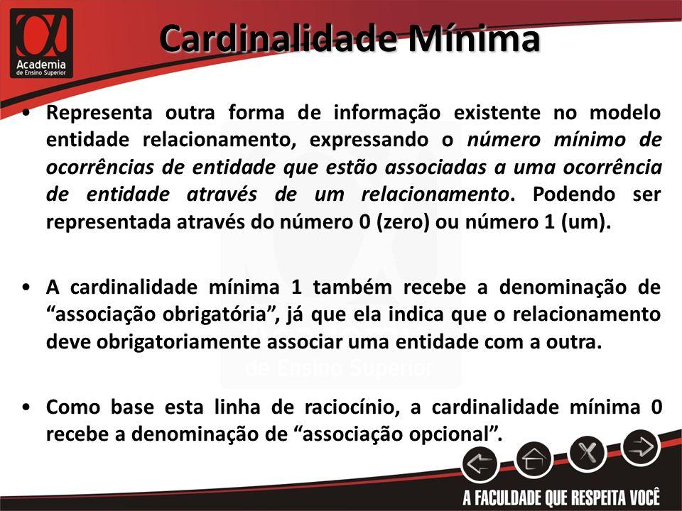 Cardinalidade Mínima