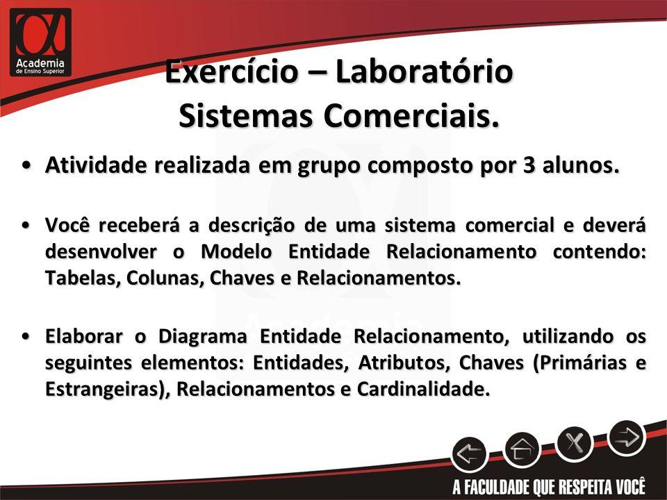 Exercício – Laboratório Sistemas Comerciais.