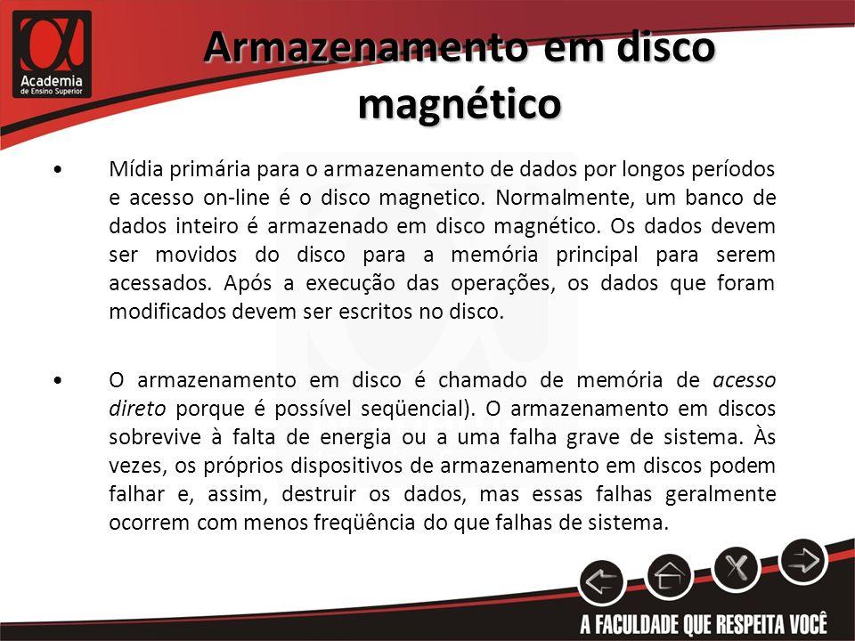 Armazenamento em disco magnético