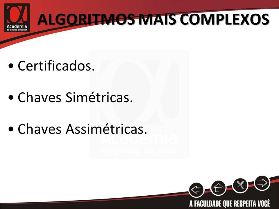 algoritmos mais complexos