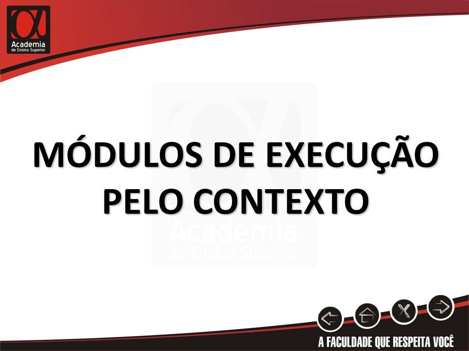 MÓDULOS DE EXECUÇÃO PELO CONTEXTO