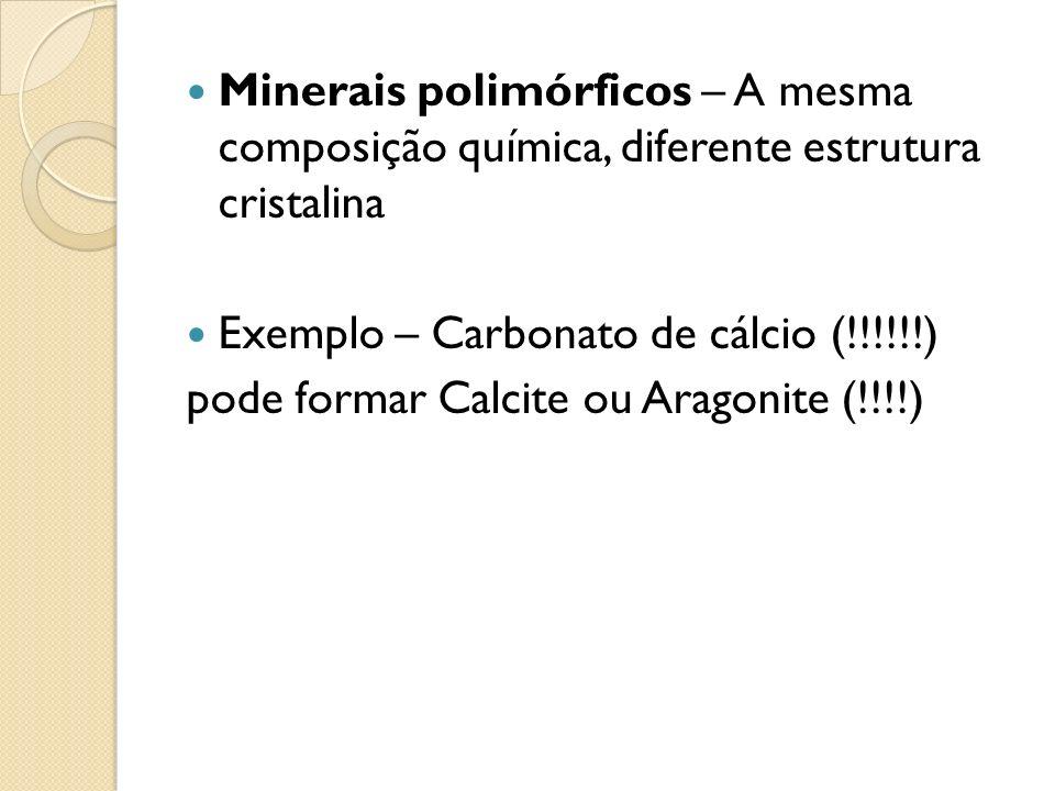 Minerais polimórficos – A mesma composição química, diferente estrutura cristalina