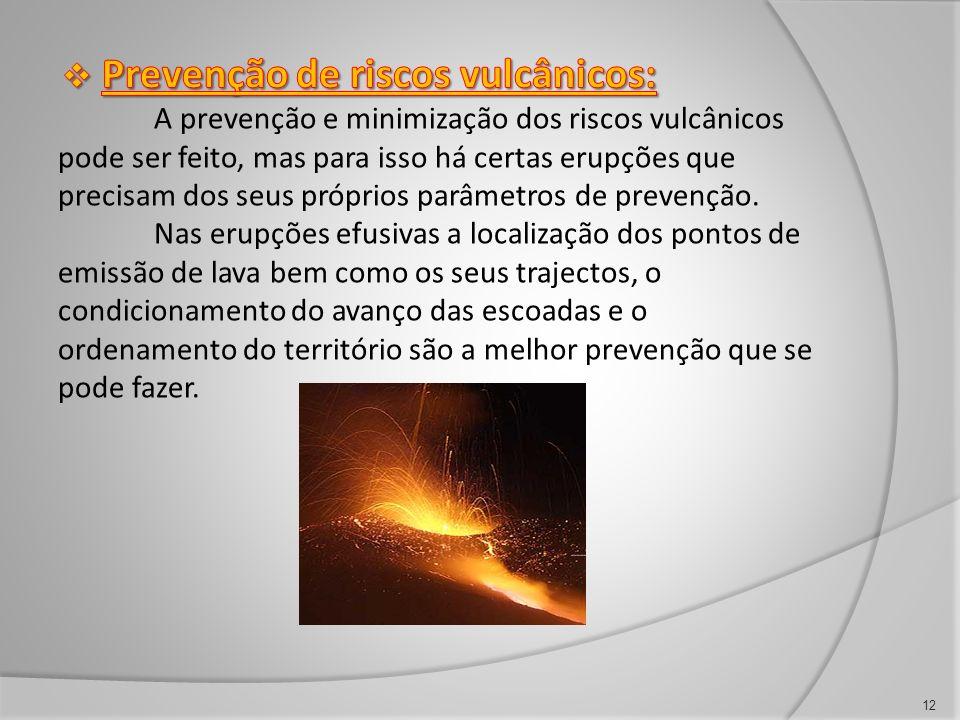 Prevenção de riscos vulcânicos: