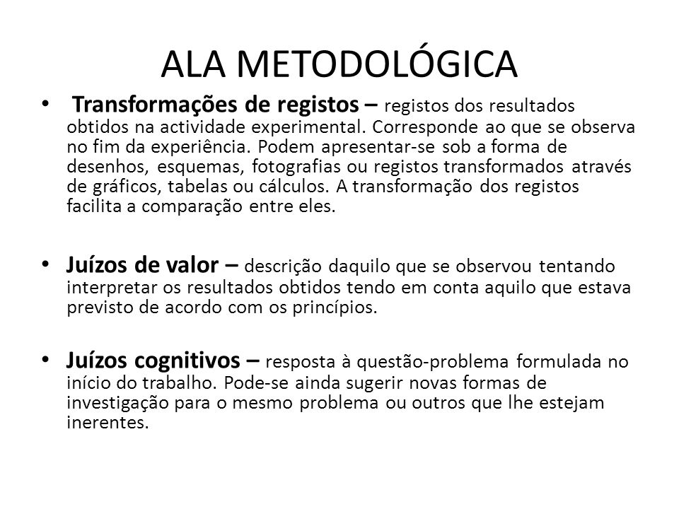 ALA METODOLÓGICA
