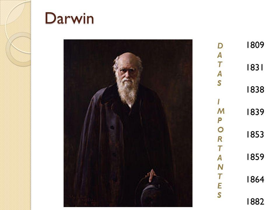 Darwin 1809 1831 1838 1839 1853 1859 1864 1882 D A T S I M P O R N E