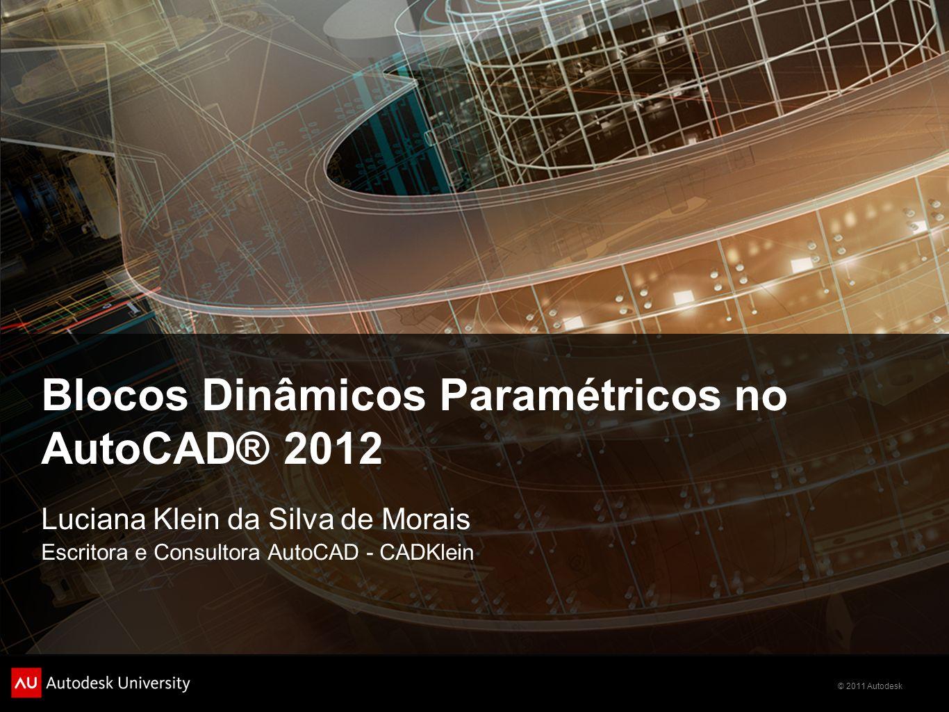Blocos Dinâmicos Paramétricos no AutoCAD® 2012