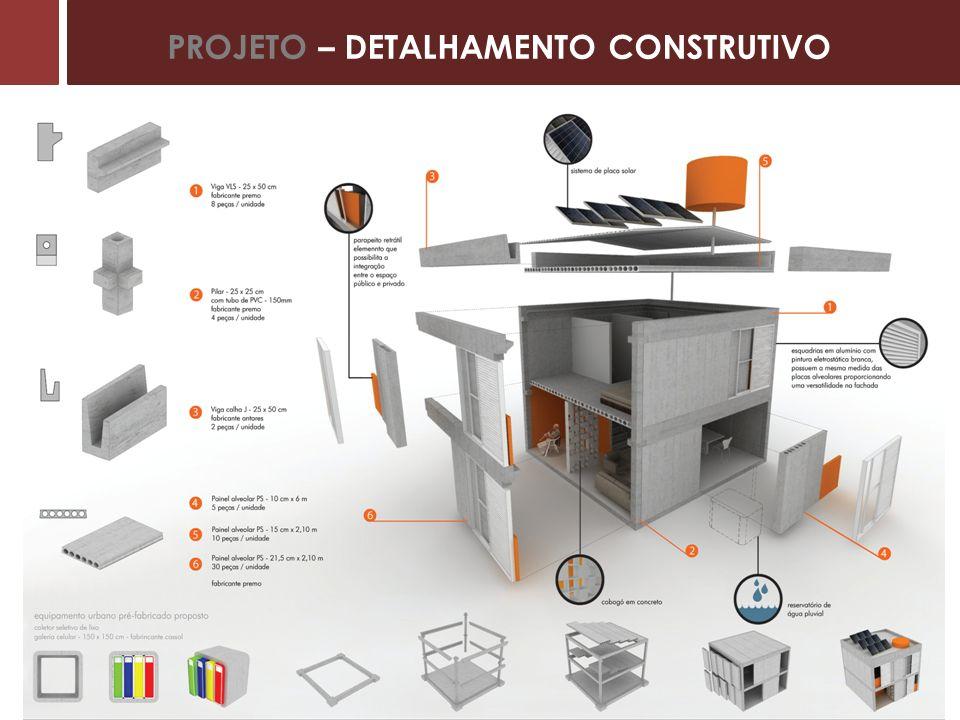 PROJETO – DETALHAMENTO CONSTRUTIVO