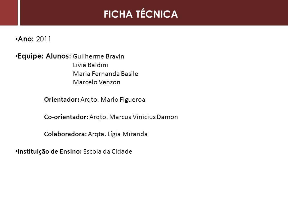 FICHA TÉCNICA Ano: 2011 Equipe: Alunos: Guilherme Bravin Livia Baldini