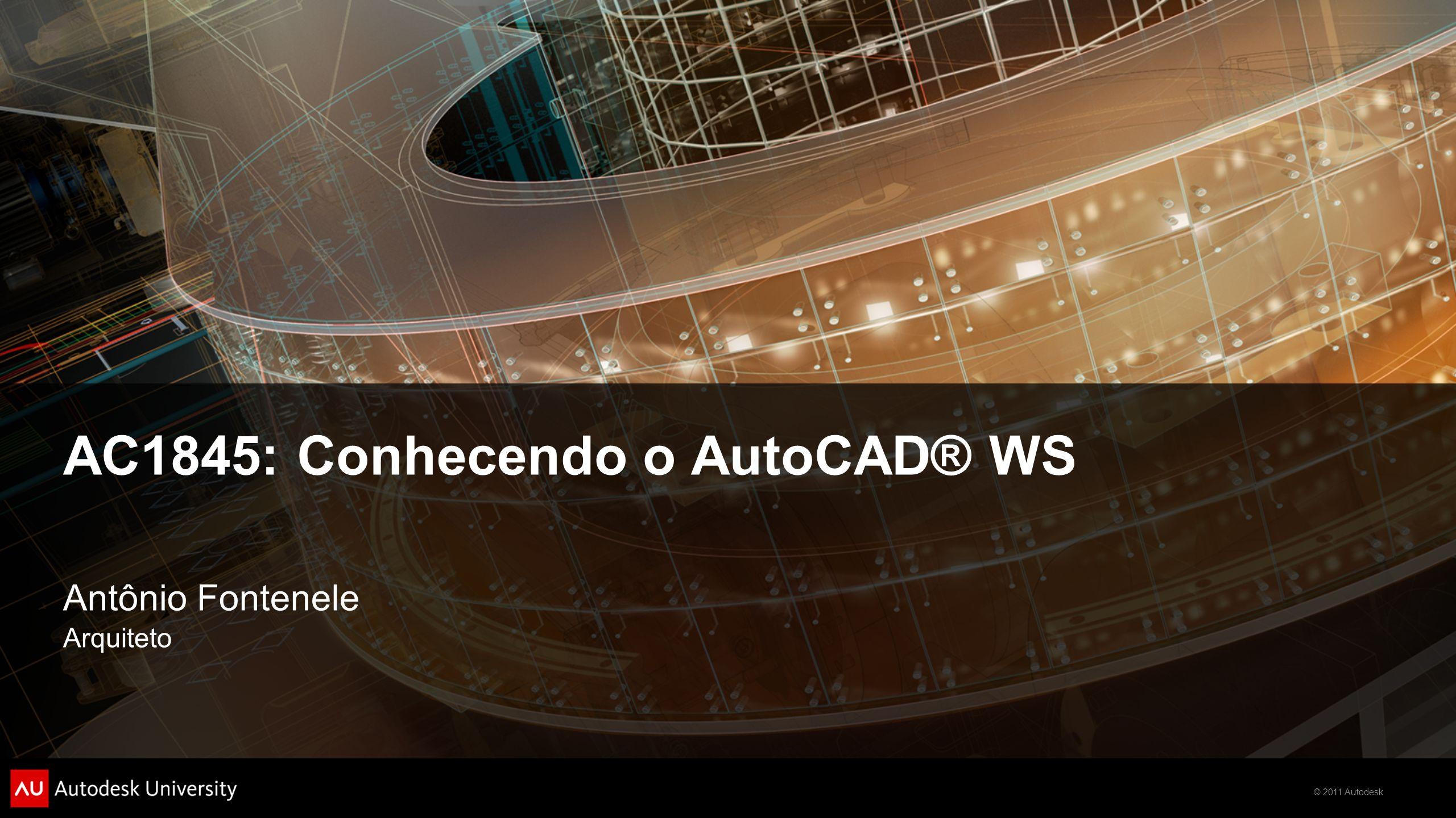 AC1845: Conhecendo o AutoCAD® WS