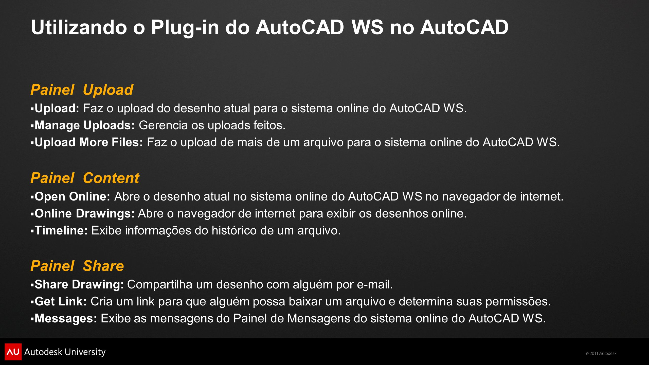 Utilizando o Plug-in do AutoCAD WS no AutoCAD