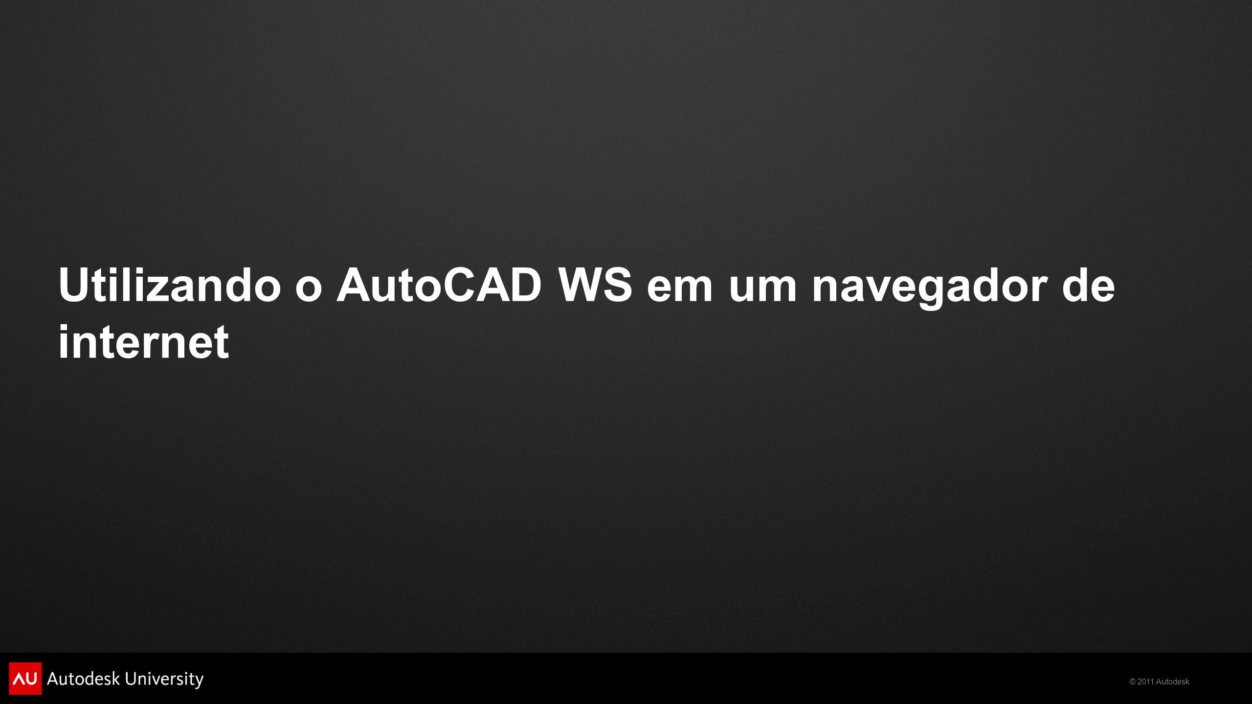 Utilizando o AutoCAD WS em um navegador de internet