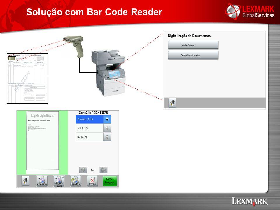 Solução com Bar Code Reader
