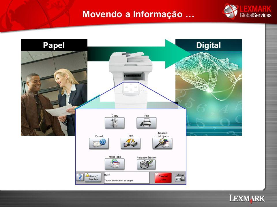 Movendo a Informação … Papel Digital