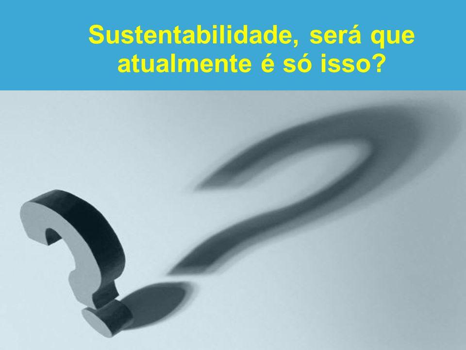 Sustentabilidade, será que atualmente é só isso