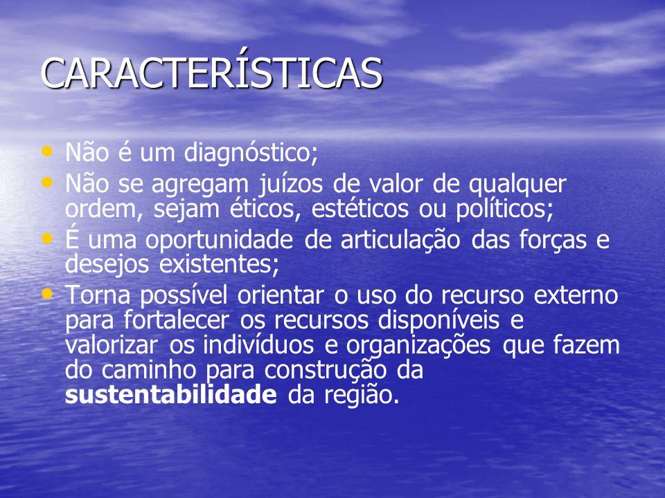 CARACTERÍSTICAS Não é um diagnóstico;