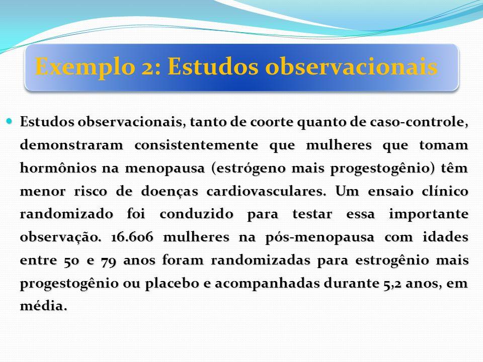 Exemplo 2: Estudos observacionais