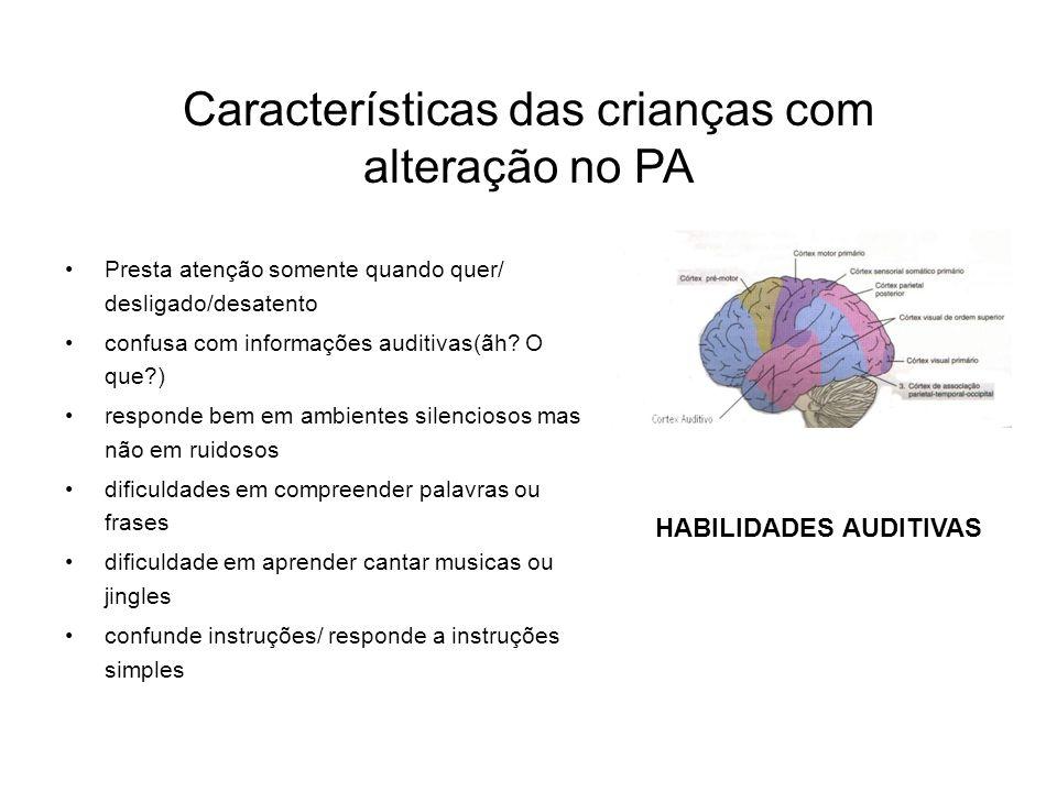 Características das crianças com alteração no PA