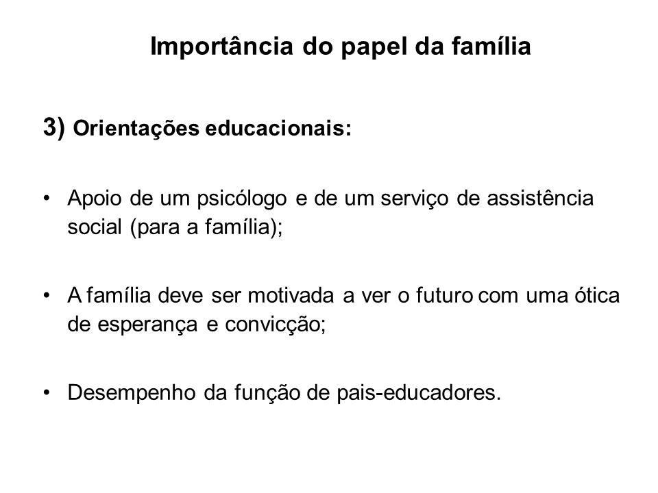 Importância do papel da família