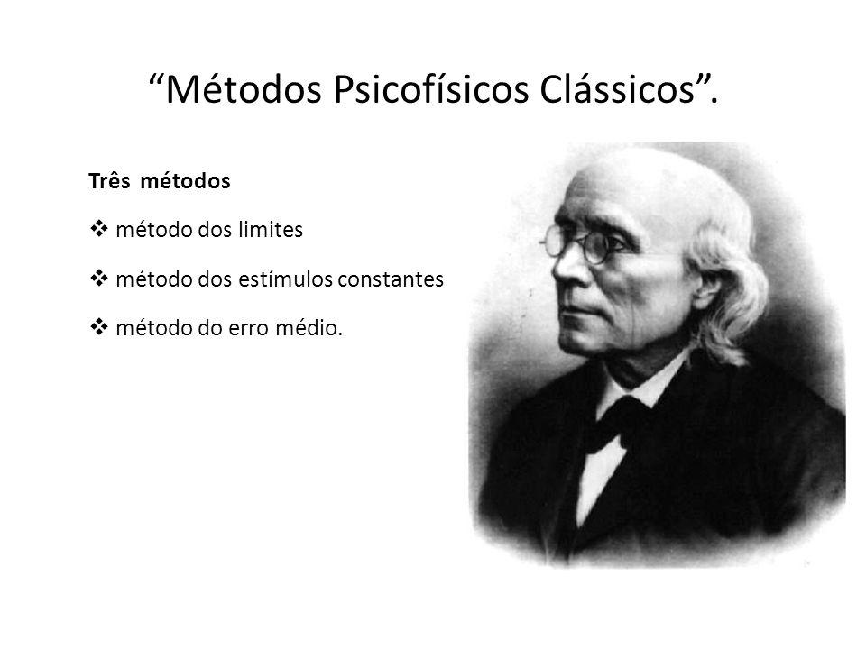 Métodos Psicofísicos Clássicos .