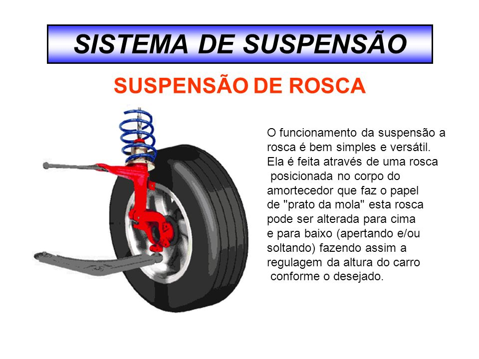 SISTEMA DE SUSPENSÃO SUSPENSÃO DE ROSCA