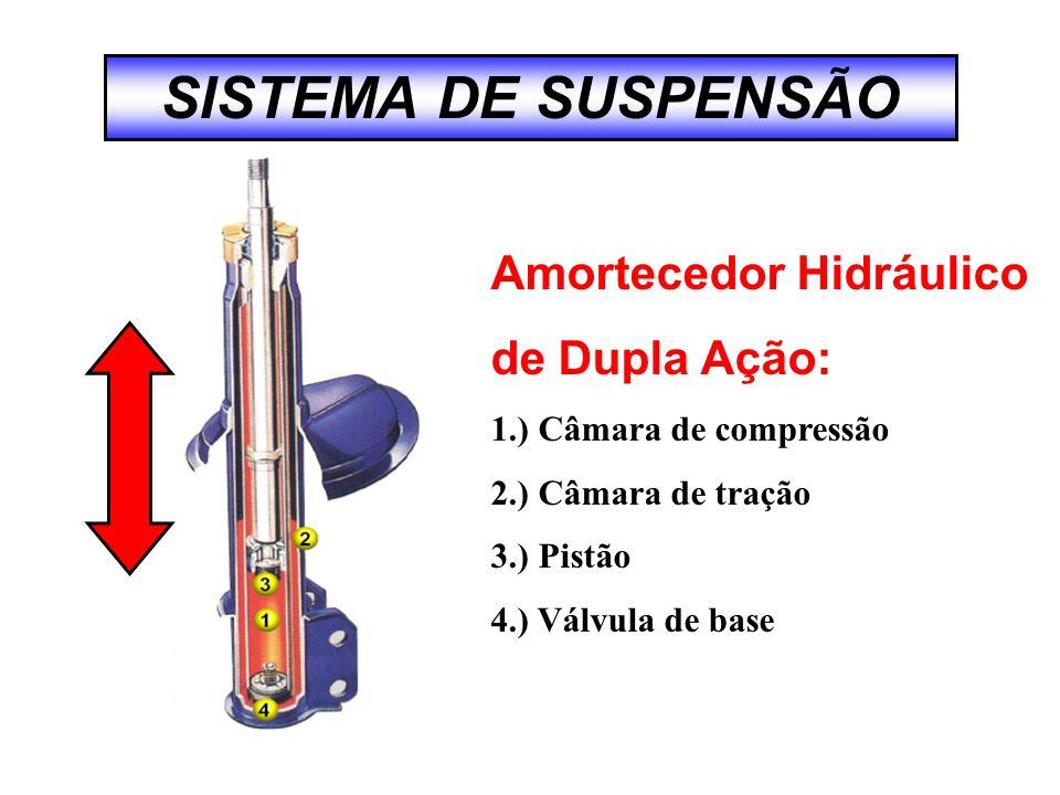 SISTEMA DE SUSPENSÃO Amortecedor Hidráulico de Dupla Ação: